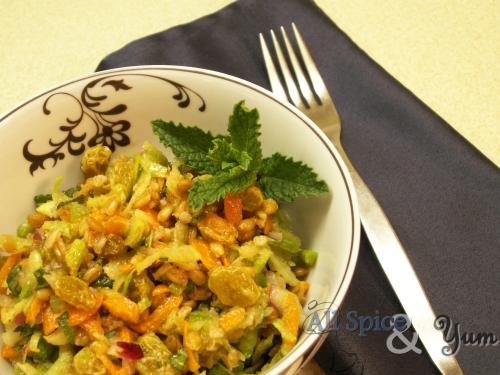 Minted Green Radish Spelt Salad