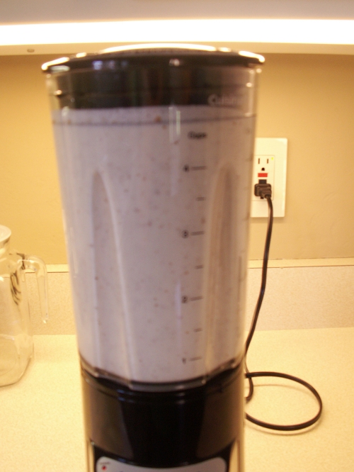 Almond milk in blender