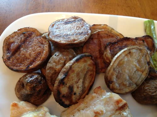 Grilled Blue Potatoes