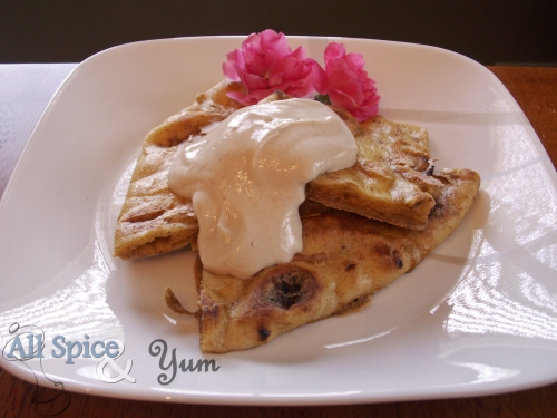 Indian Naan French Toast with Rose Yogurt Sauce