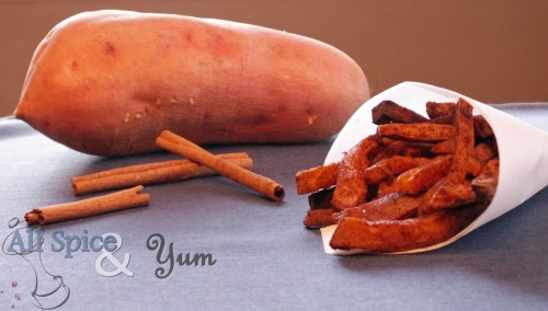 Baked Cinnamon Sweet Potato Fries