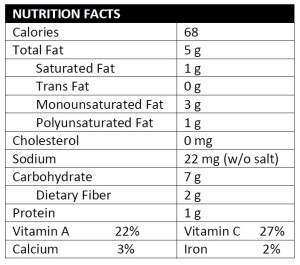 Kohlslaw Nutrition Facts