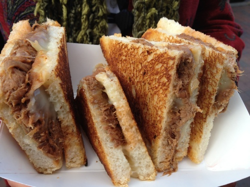 BBQ Ribs Grilled Cheese from Roxy's Gourmet Grilled Cheese