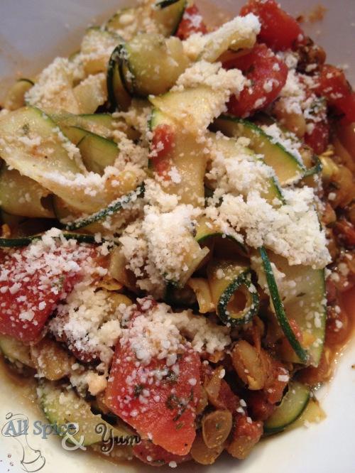 Zucchini Fettuccini
